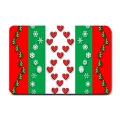 Christmas Snowflakes Christmas Trees Small Doormat