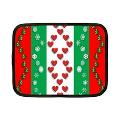 Christmas Snowflakes Christmas Trees Netbook Case (Small)