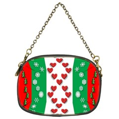 Christmas Snowflakes Christmas Trees Chain Purses (One Side)