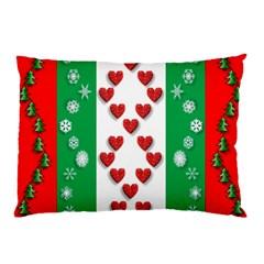 Christmas Snowflakes Christmas Trees Pillow Case
