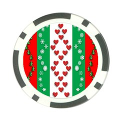 Christmas Snowflakes Christmas Trees Poker Chip Card Guard (10 pack)