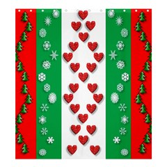 Christmas Snowflakes Christmas Trees Shower Curtain 66  x 72  (Large)