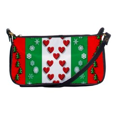 Christmas Snowflakes Christmas Trees Shoulder Clutch Bags