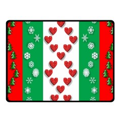 Christmas Snowflakes Christmas Trees Fleece Blanket (Small)