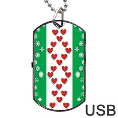 Christmas Snowflakes Christmas Trees Dog Tag USB Flash (Two Sides)