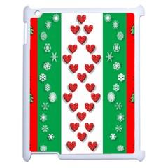 Christmas Snowflakes Christmas Trees Apple iPad 2 Case (White)