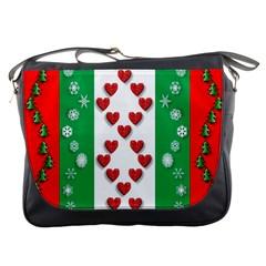 Christmas Snowflakes Christmas Trees Messenger Bags