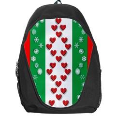 Christmas Snowflakes Christmas Trees Backpack Bag