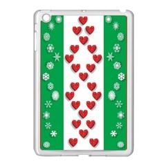 Christmas Snowflakes Christmas Trees Apple iPad Mini Case (White)