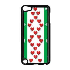Christmas Snowflakes Christmas Trees Apple iPod Touch 5 Case (Black)
