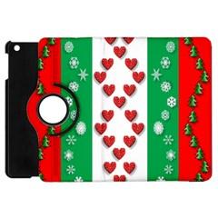 Christmas Snowflakes Christmas Trees Apple iPad Mini Flip 360 Case