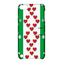 Christmas Snowflakes Christmas Trees Apple Ipod Touch 5 Hardshell Case With Stand