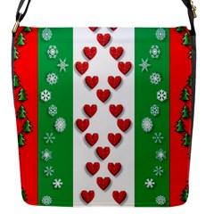 Christmas Snowflakes Christmas Trees Flap Messenger Bag (s)