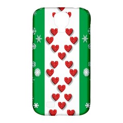 Christmas Snowflakes Christmas Trees Samsung Galaxy S4 Classic Hardshell Case (pc+silicone)