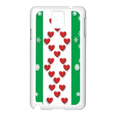 Christmas Snowflakes Christmas Trees Samsung Galaxy Note 3 N9005 Case (White)