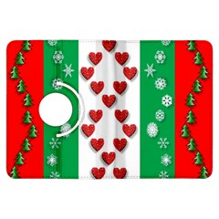 Christmas Snowflakes Christmas Trees Kindle Fire HDX Flip 360 Case