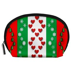 Christmas Snowflakes Christmas Trees Accessory Pouches (large)