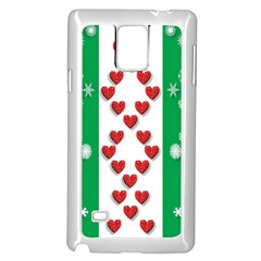 Christmas Snowflakes Christmas Trees Samsung Galaxy Note 4 Case (White)