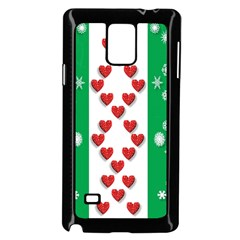 Christmas Snowflakes Christmas Trees Samsung Galaxy Note 4 Case (Black)