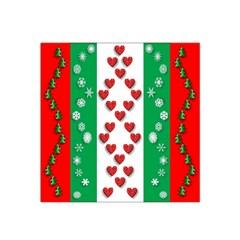Christmas Snowflakes Christmas Trees Satin Bandana Scarf