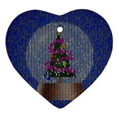 Christmas Snow Ornament (heart)