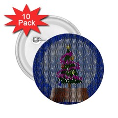 Christmas Snow 2.25  Buttons (10 pack)