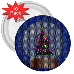 Christmas Snow 3  Buttons (10 pack)