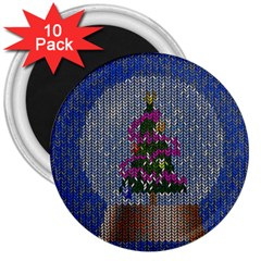 Christmas Snow 3  Magnets (10 pack)