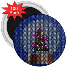 Christmas Snow 3  Magnets (100 pack)
