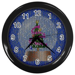 Christmas Snow Wall Clocks (black)