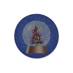 Christmas Snow Magnet 3  (Round)