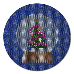 Christmas Snow Magnet 5  (Round)