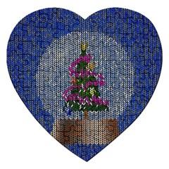 Christmas Snow Jigsaw Puzzle (Heart)