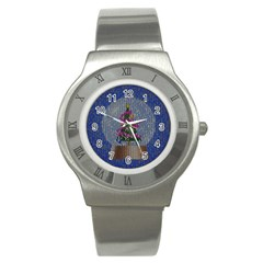 Christmas Snow Stainless Steel Watch
