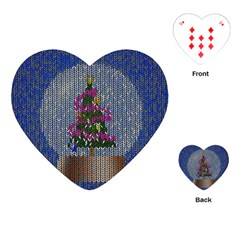 Christmas Snow Playing Cards (Heart)