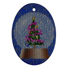 Christmas Snow Oval Ornament (Two Sides)