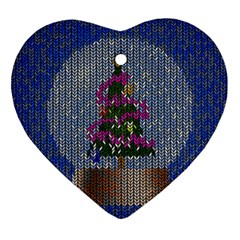 Christmas Snow Heart Ornament (Two Sides)