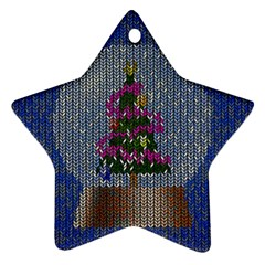 Christmas Snow Star Ornament (Two Sides)
