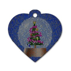 Christmas Snow Dog Tag Heart (One Side)