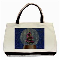 Christmas Snow Basic Tote Bag (Two Sides)