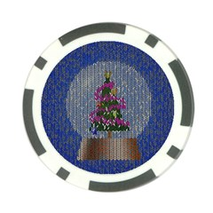 Christmas Snow Poker Chip Card Guard
