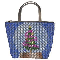 Christmas Snow Bucket Bags