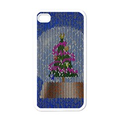 Christmas Snow Apple iPhone 4 Case (White)
