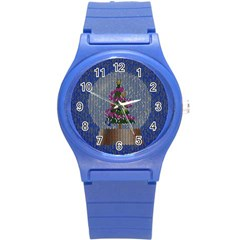 Christmas Snow Round Plastic Sport Watch (S)