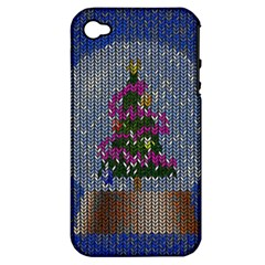 Christmas Snow Apple iPhone 4/4S Hardshell Case (PC+Silicone)