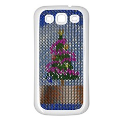 Christmas Snow Samsung Galaxy S3 Back Case (White)