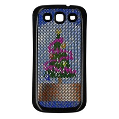 Christmas Snow Samsung Galaxy S3 Back Case (Black)