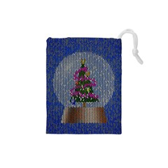 Christmas Snow Drawstring Pouches (Small)
