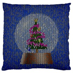 Christmas Snow Large Flano Cushion Case (One Side)