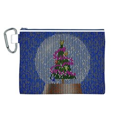 Christmas Snow Canvas Cosmetic Bag (L)